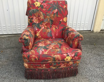 Sold! Vintage floral patterned Chair