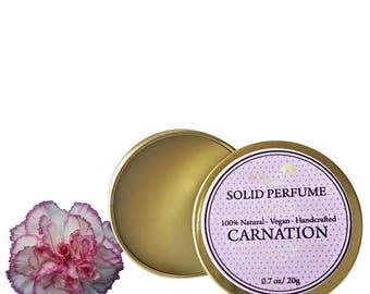 Carnation Solid Perfume, Organic Carnation Perfume Bar, Vegan Perfume, Natural Perfume, Gift Idea