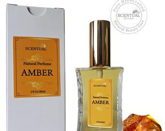 On Sale Amber Perfume Oil, Organic Amber Perfume Oil Spray, Natural Perfume, Gift Idea