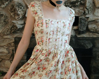 Lace and Flower Mini Dress