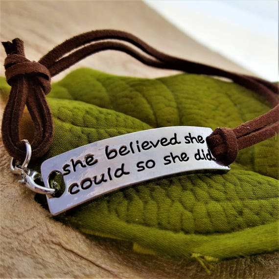 CrossFit Jewelry, Believe in Yourself, Fitness Leather Wrist Wrap, You Are Strong Brave Smart Bracelet, Inspirational Quotes, Word Charms