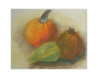 Still Life with Squash and Pumpkins  - original artwork