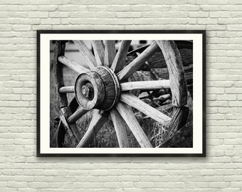 Rustic wall decor, Country Farmhouse Decor, Wagon Wheel Photograph, Rustic Wall Art, Western Decor, Farmhouse wall decor, farmhouse print