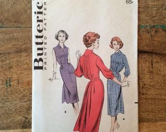 Vintage Butterick #8221 for Misses Shirtwaist Dress Size 12 Bust 32