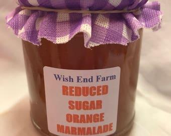 Orange Reduced Sugar Medium Peel Marmalade Homemade 200g (7oz) Jar, Food Gift, Birthday Gift, Diabetic Marmalade,  Low Sugar
