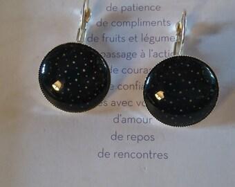 Earrings 'black night'