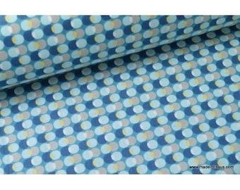 Blue x50cm pozzi design printed cotton Poplin fabric