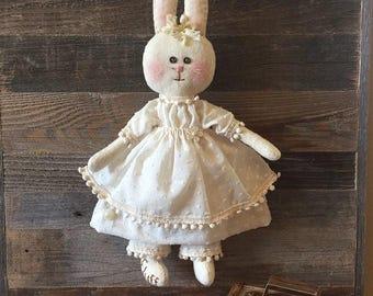 Primitive Fluff Bunny Rag Doll