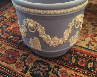 Lovely Wedgwood Blue Jasperware Cache Pot