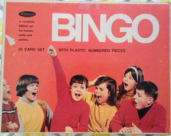 Vintage 1970's Bingo Game by Whitman...Has all the pieces