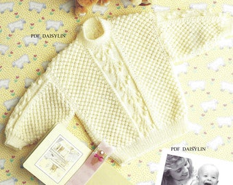 PDF Instant Download   Baby Jumper Knitting Pattern (48)