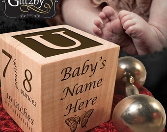 Personalized Baby Blocks, Newborn, Birthday, Baptism Gift, Baby Shower Gift