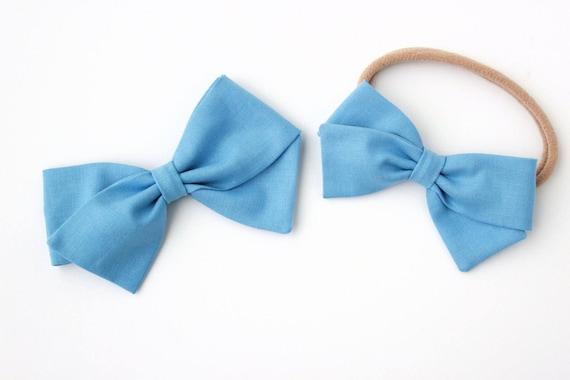 Light Blue Fabric Bow
