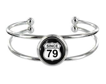 Since 79 Silver Plated Bangle in Organza Gift Bag