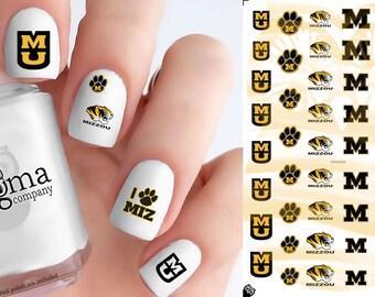 Mizzou Tigers Nail Decals (Set of 52)