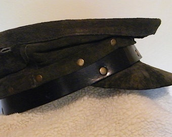 Old-Timey Cadet Cap Leather #24
