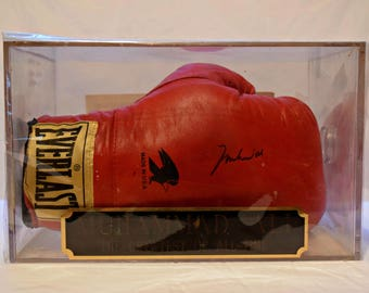 "Signed MUHAMMAD ALI ""The Greatest Of All Time"" Red Boxing Glove Collectible Boxing Memorabilia"