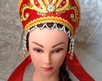 Russian Folk Headdress KOKOSHNIK