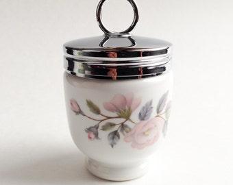 Porcelain egg coddler Royal Worcester, Vintage collectible, Made in England, Orange Rétro