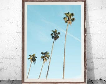 Tropical Print, Palm Print, Palm Poster, Palm Tree Print, Watercolor Palm, Palm Photography, Palm Digital Print, Palm Leaf Print, Wall Decor