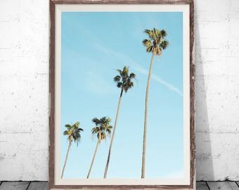 Tropical Print, Palm Print, Palm Poster, Palm Tree Print, Watercolor Palm, Palm Photography, Palm Digital Print, Palm Leaf Print, Wall Decor