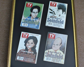 Vintage Framed Seinfeld TV Guides