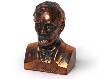Vintage Bronze Abraham Lincoln Bank