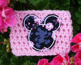 Mouse Ears Spring Fabric Coffee Cup Cozy