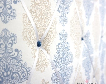 Memo Board - Terminal wall with ornaments in blue and beige by marengu