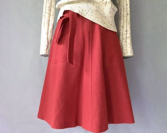 Vintage wool midi skirt women's size S/M