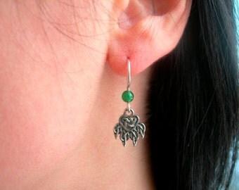Cat's paw Earrings. Paw of the Lynx. Viking amulet Jewelry. Handmade Celtic Earrings. Cat paw talisman. Scandinavian Earrings.
