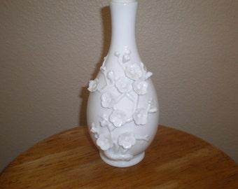 Vintage Capodimonte Style Bud Vase White Porcelain Tozai