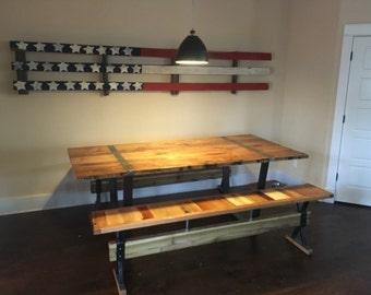 Reclaimed barnwood farmhouse table