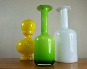 Holmegaard green vase style of