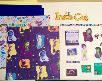 Inside Out Joy & Disgust Scrapbooking Kit
