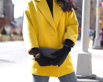 Womens touchscreen gloves! High Quality, Wool, Discreet, Stylish - emke Praghue Small