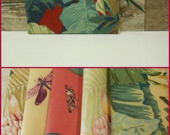 Botanical Pencil Case- Waterproof Pencil Pouch- Floral - Folliage Water repellent  pencil case ref-11ls