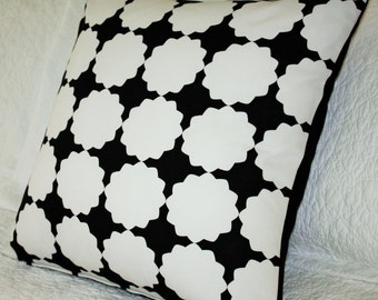 Black and White Geometric Cushion Cover - 45 x 45cm
