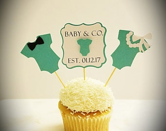 Baby & Co Cupcake Toppers/Baby Shower Cupcake Toppers