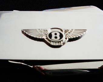 Bentley Chrome Silver Money Clip with Free Engraving