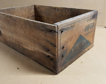 Wood fruit crate - Santa Clara prunes crate