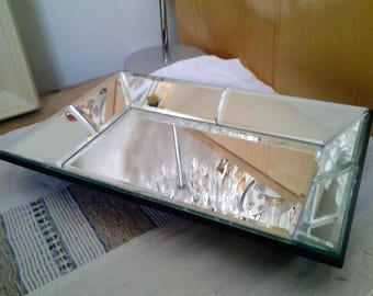 Vintage mid 90's mirrored Tray - Modern look