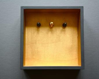 Chess | Key box. Black/brass