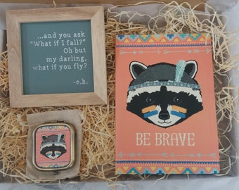 Motivational 'Be Brave' Gift Box, positive, care package, boost, encouragement, new challenge, happy gift, snail mail