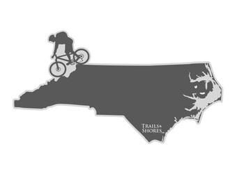 North Carolina Mountain Biking Decal