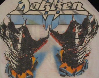 Vintage Dokken Shirt Tooth And Nail 1984 Tour Shirt Rare Don Dokken George Lynch Lynch Mob Ratt Motley Crue Poison Vintage Tour Shirt