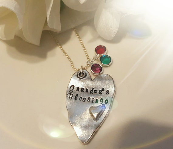 Grandma 39 s blessing grandchild necklace gift for for Grandmother jewelry you can add to