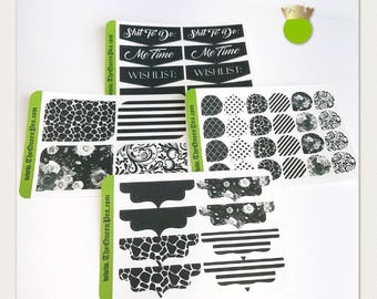 Pocket Planner Stickers - Noire Set