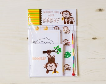 Father's Day Monkey Fun With Dad Activity