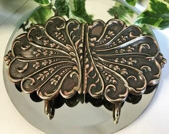 A Beautiful Vintage Art Nouveau  Copper Belt Buckle